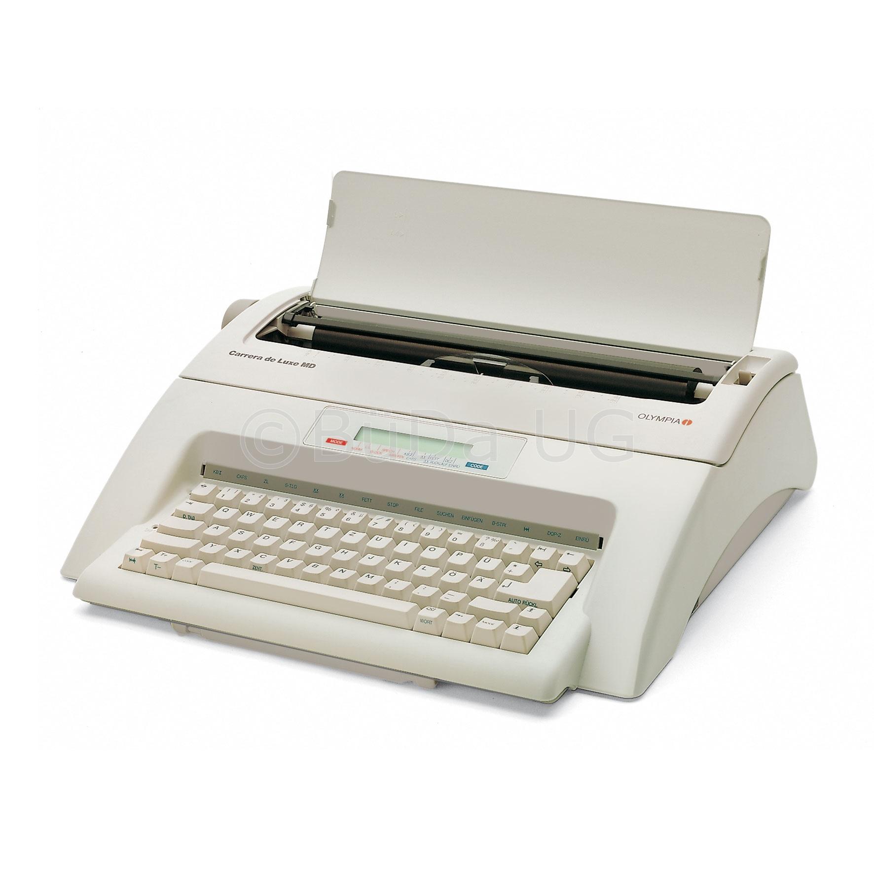 Elektronische Schreibmaschine Modell Olympia Carrera de luxe MD gebraucht, leicht vergilbt, 12 Monate Garantie